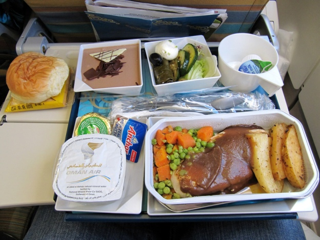 Oman Air Economy Class lunch